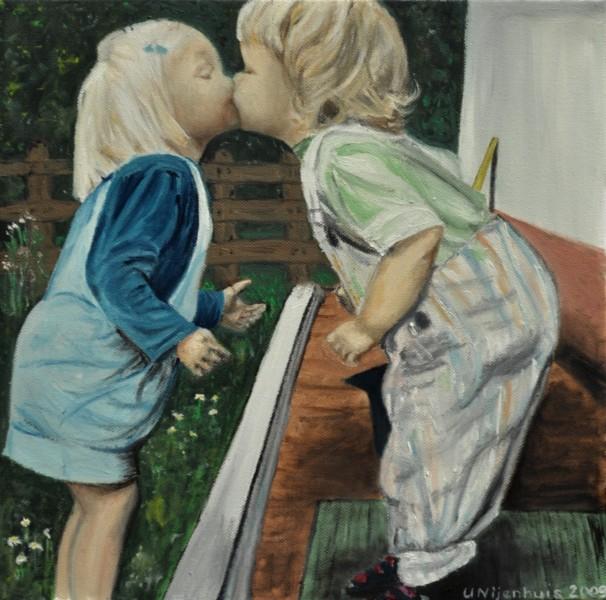 Erster Kuss, Gemälde